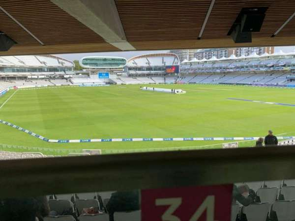 Lord's Cricket Ground, section: Warner Stand, row: Terrace Level 1, seat: 34