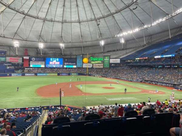 Tropicana Field, section: 119, row: PP, seat: 1