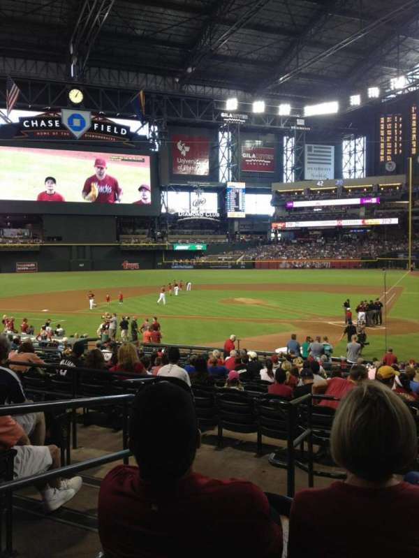 Chase field, section: 125, row: 26, seat: 12