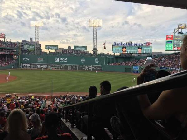 Fenway Park, section: Grandstand 11, row: 7, seat: 1