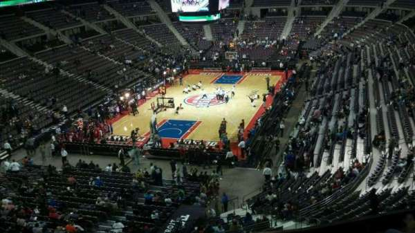 The Palace of Auburn Hills, section: 206, row: 5, seat: 012