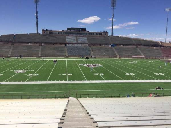 Aggie Memorial Stadium, section: U, row: 18, seat: 1