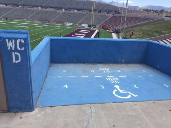 Aggie Memorial Stadium, section: C, row: 25/26, seat: 1-4