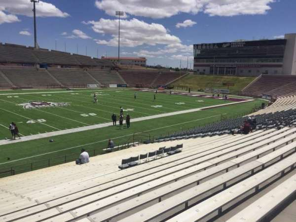 Aggie Memorial Stadium, section: I, row: 17, seat: 31