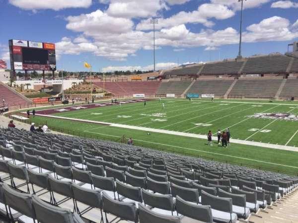 Aggie Memorial Stadium, section: H, row: 17, seat: 1
