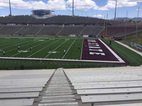 Aggie Memorial Stadium, section: E, row: 18, seat: 1