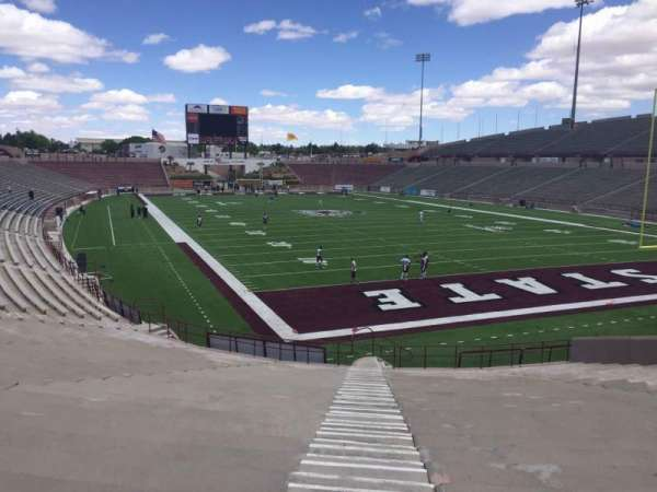Aggie Memorial Stadium, section: C, row: 18