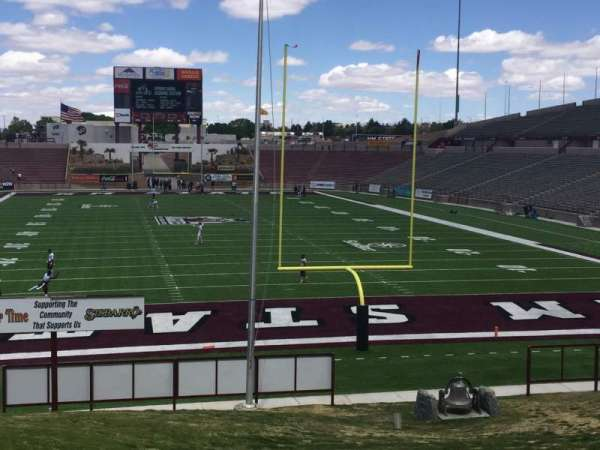 Aggie Memorial Stadium, section: B, row: 1, seat: 1