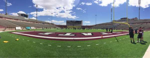 Aggie Memorial Stadium, section: O, row: 1, seat: 1