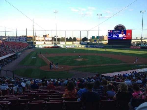 Sahlen Field, section: 106, row: BB, seat: 3