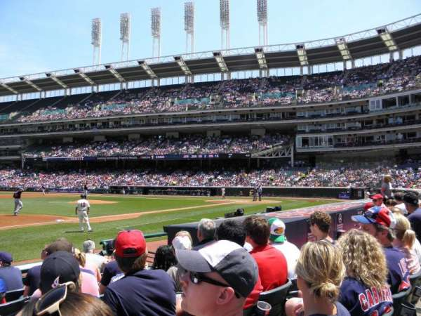 Progressive Field, section: 165, row: H, seat: 6