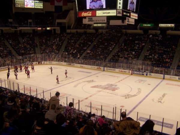 XL Center, section: 102, row: Y, seat: 5