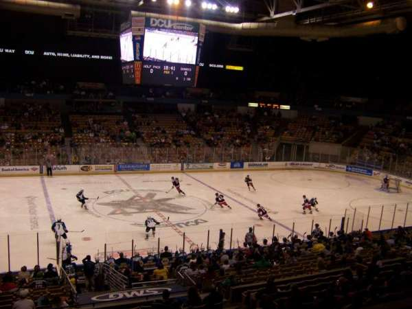 DCU Center, section: 232, row: A, seat: 10