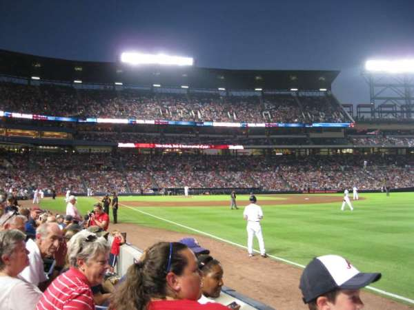Turner Field, section: 123, row: 6, seat: 12