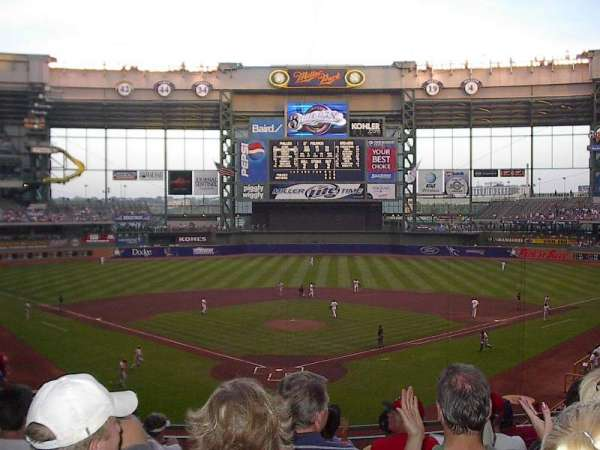 Miller Park, section: 218, row: 8, seat: 7