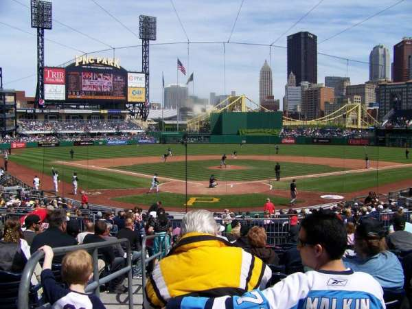 PNC Park, section: 115, row: M, seat: 26