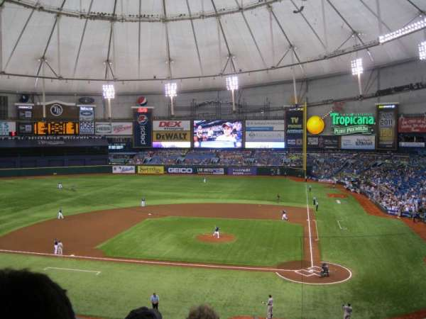 Tropicana Field, section: 207, row: D, seat: 13