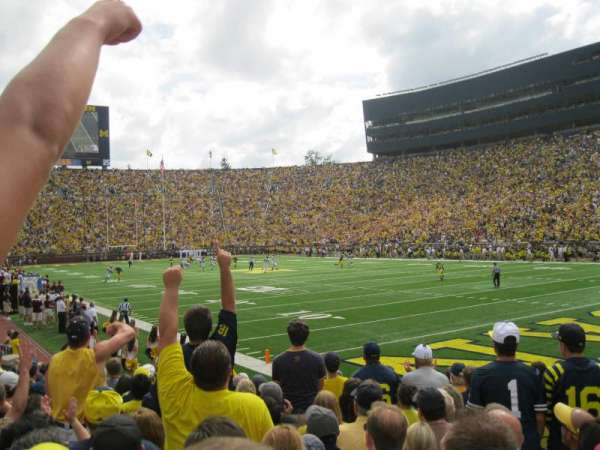 Michigan Stadium, section: 37, row: 11, seat: 7