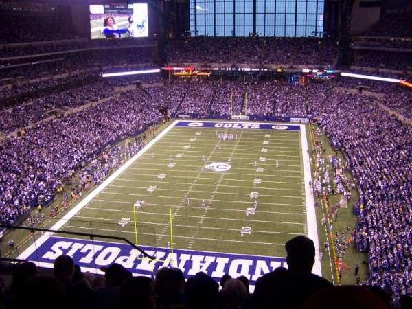 Lucas Oil Stadium, section: 625, row: 8, seat: 15