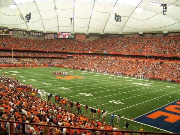 Carrier Dome, section: 127, row: T