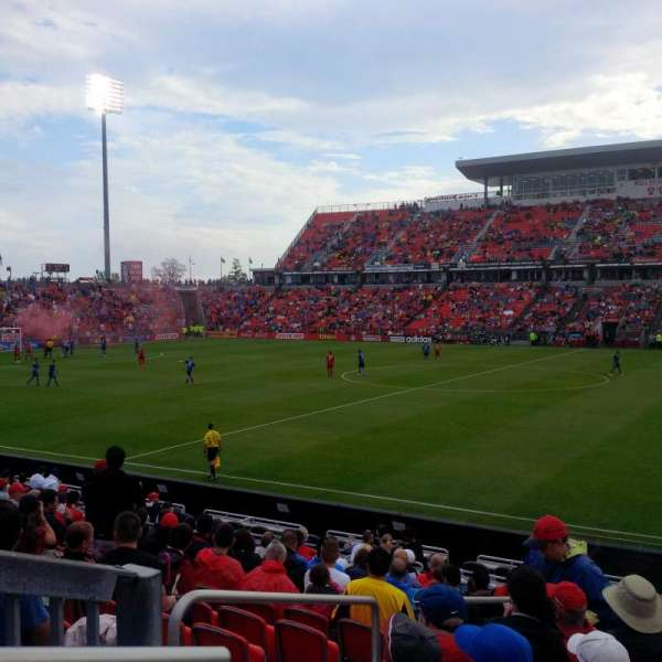 BMO Field, section: 108, row: 13, seat: 28