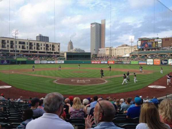 Parkview Field, section: 108, row: Q, seat: 9