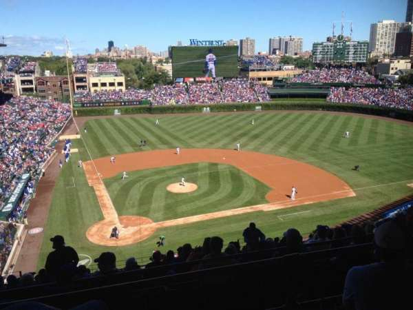 Wrigley Field, section: 421R, row: 3, seat: 9
