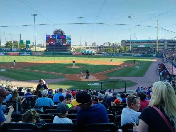 Sahlen Field, section: 101, row: V, seat: 7