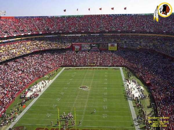 FedEx Field, section: 413, row: 16, seat: 14
