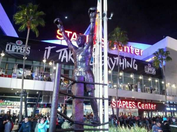 Staples Center, section: exterior