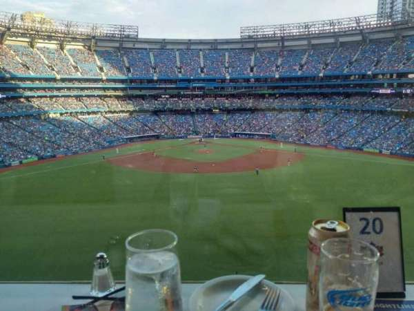 Rogers Centre, section: Sightlines Restaurant, row: D, seat: 17