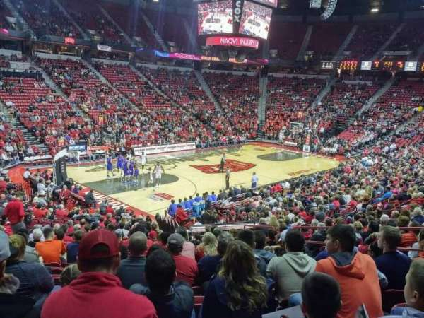 Thomas & Mack Center, section: 120, row: N, seat: 8