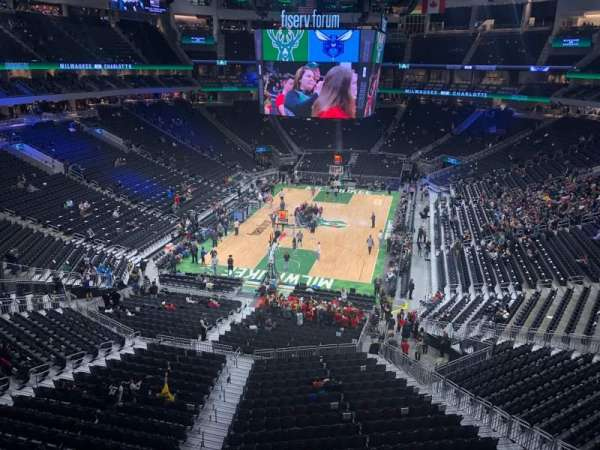 Fiserv Forum, section: 214, row: 1, seat: 5
