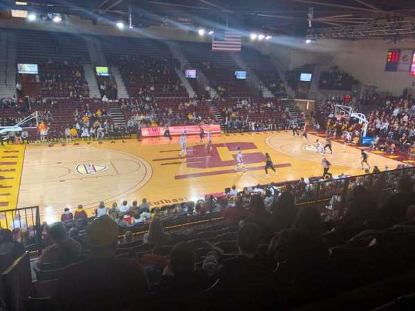 McGuirk Arena, section: 106, row: S, seat: 14