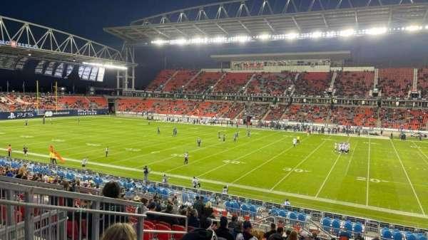 BMO Field, section: 105, row: 26, seat: 28