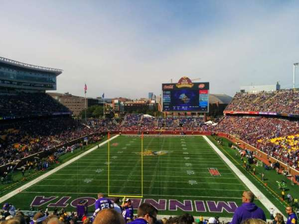TCF Bank Stadium, section: 225, row: 13, seat: 9