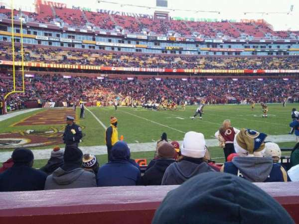 FedEx Field, section: 126, row: 2, seat: 5