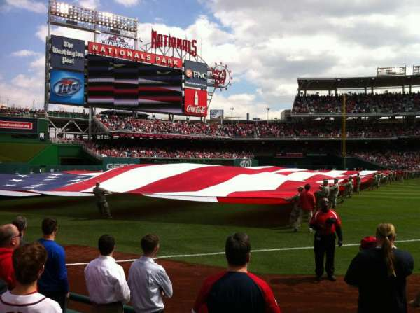 Nationals Park, section: 110, row: F, seat: 1