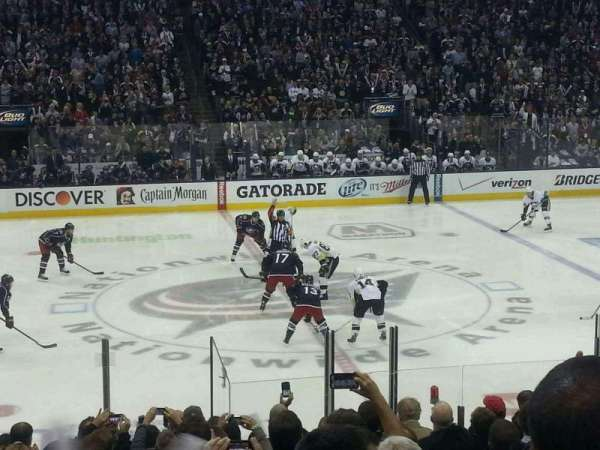 Nationwide Arena, section: 115, row: Q, seat: 10