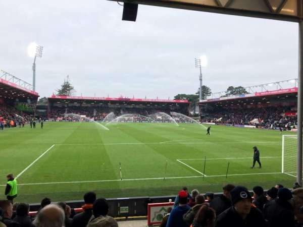 Vitality Stadium, section: 29, row: J, seat: 105