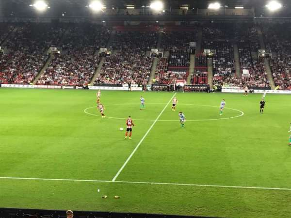 Bramall Lane, section: FEB3, row: R, seat: 113