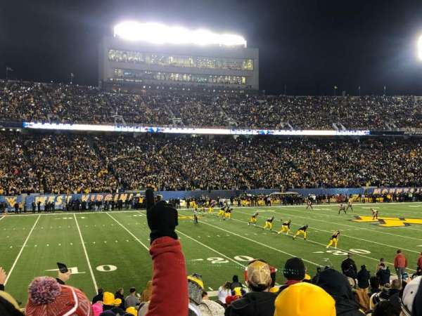 Mountaineer field, section: 103, row: 14