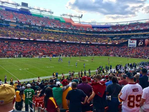 FedEx Field, section: 126, row: 22