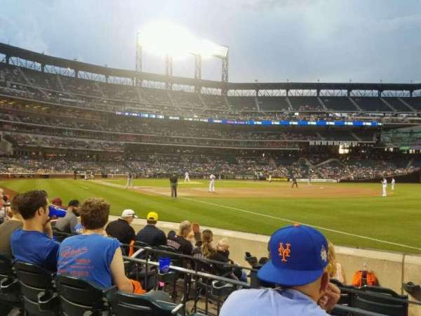 Citi Field, section: 109, row: 1, seat: 14