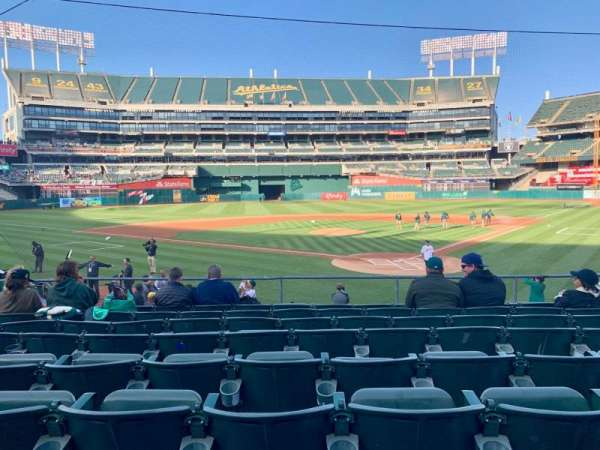 Oakland Alameda Coliseum, section: 118, row: 20, seat: 5-10