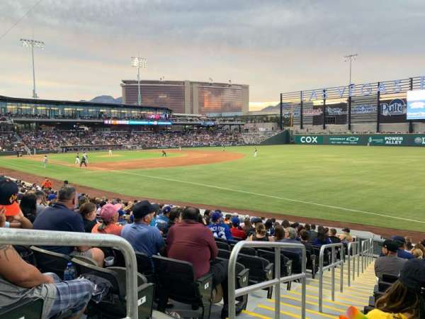 Las Vegas Ballpark, section: 102, row: R, seat: 1-6