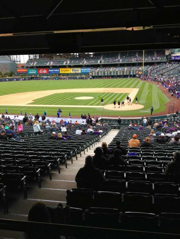Coors Field, section: 133