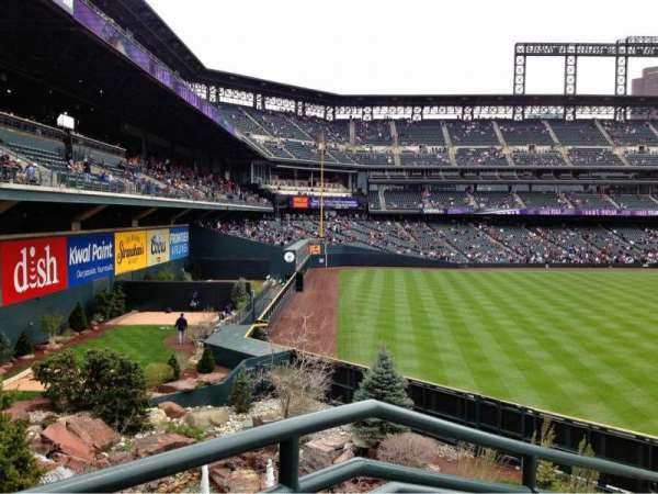 Coors Field, section: Rockpile