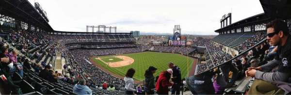 Coors Field, section: U313, row: 19, seat: 4