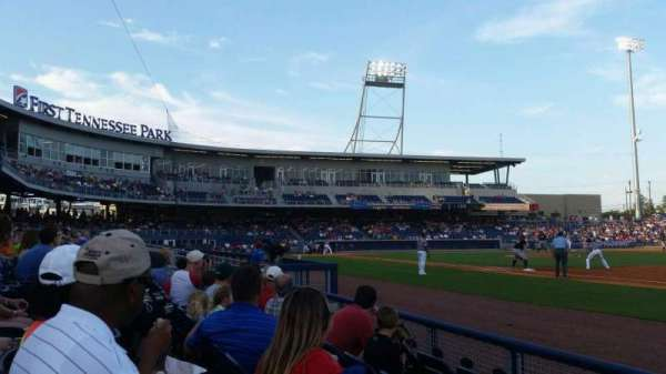 First Tennessee Park, section: 120, row: D, seat: 17